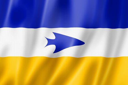 Tehuelche ethnic flag, South America. 3D illustration Banque d'images