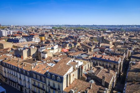 City of Bordeaux Aerial view from the Pey-Berland tower, France