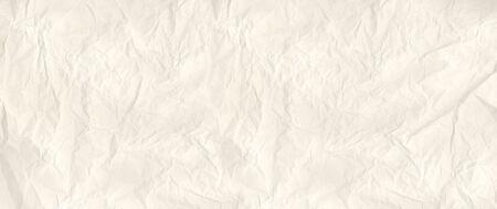 Old crumpled paper texture background. Vintage wallpaper banner Banque d'images