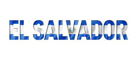 Salvadoran flag text font. El Salvador symbol background