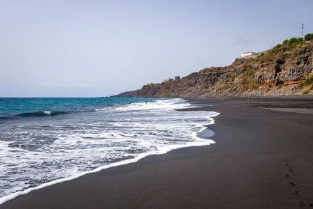 Black sand beach in Fogo Island, Cape Verde, Africa