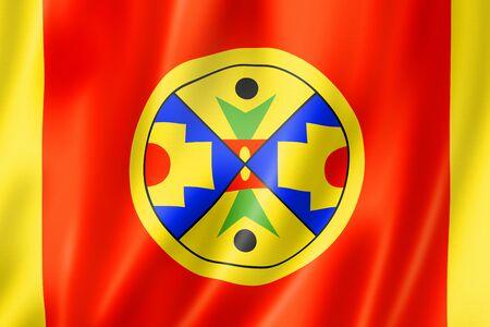 Natuaqanek people ethnic flag, Canada. 3D illustration Banque d'images