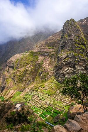Paul Valley landscape in Santo Antao island, Cape Verde, Africa