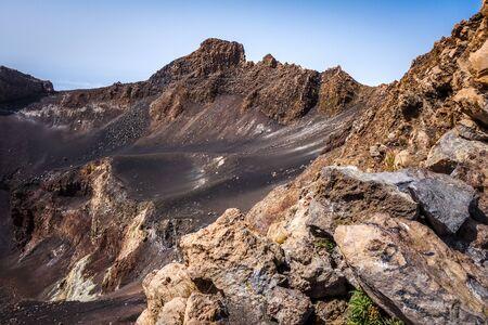 Pico do Fogo volcano crater in Cha das Caldeiras, Cape Verde, Africa Banque d'images