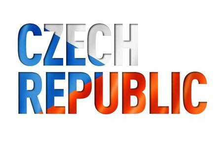 Czech Republic flag text font. National symbol background
