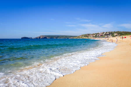 Sardinia/Italy - August 17, 2019 - Torre Dei Corsari beach Éditoriale