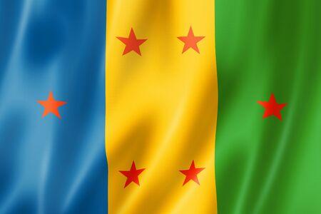 Ogoni people ethnic flag, Africa. 3D illustration