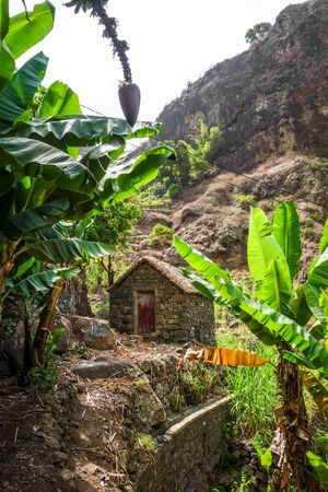 Traditional houses in Paul Valley, Santo Antao island, Cape Verde, Africa