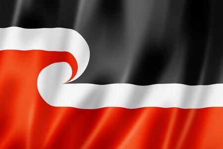 Maori ethnic flag, New Zealand. 3D illustration