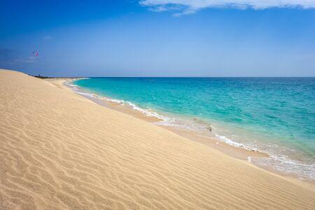 Ponta preta beach and dune in Santa Maria, Sal Island, Cape Verde, Africa Stock fotó