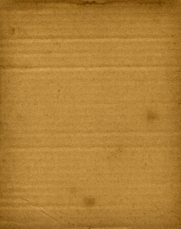 Old brown corrugated cardboard texture background wallpaper