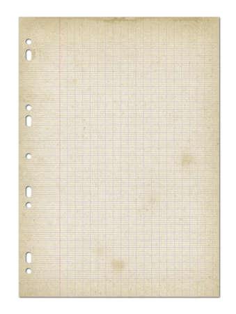 Old worn lined paper sheet texture background. Standard-Bild
