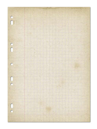 Old worn lined paper sheet texture background. Stockfoto