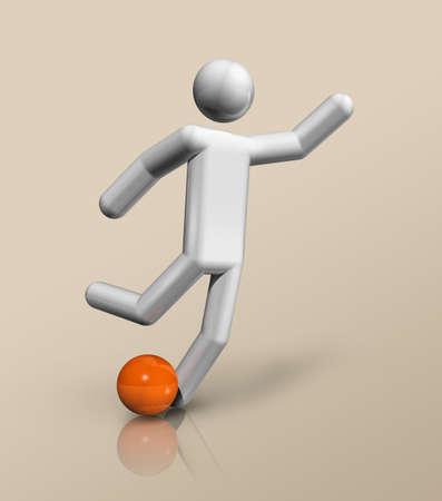 three dimensional football, soccer symbol, sports. Illustration Standard-Bild - 155804175
