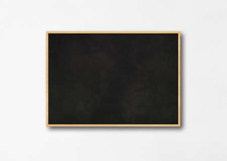 Traditional black board isolated on a white background. Blank horizontal mockup template