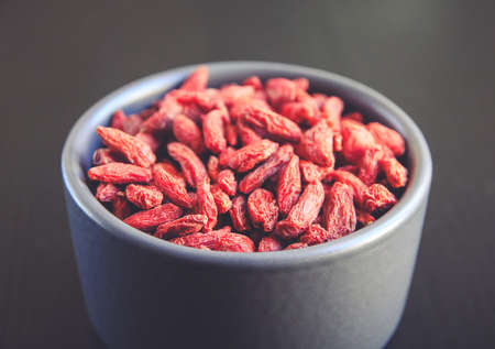 Goji berries dried superfood in a bowl