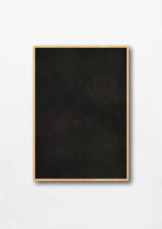 Traditional black board isolated on a white background. Blank vertical mockup template Standard-Bild