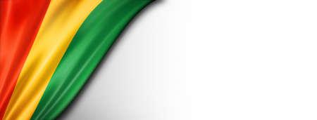 Guinea flag isolated on white. Horizontal panoramic banner.