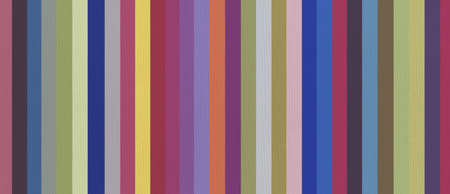 Cotton fabric texture printed with colorful stripes. Background wallpaper. Horizontal banner