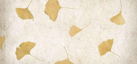 Handmade flower petal paper texture background. Horizontal banner
