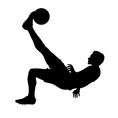 flipped: Freestyle footballer flipped Stock Photo
