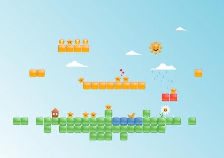 illustration of game world