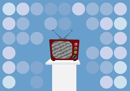 illustration of retro tv Stock Vector - 7966080