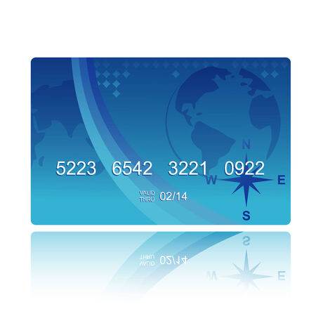 blue credit card in geographical style Stock Vector - 8479747