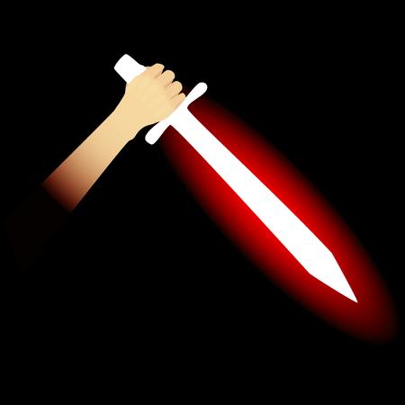 magic sword Illustration