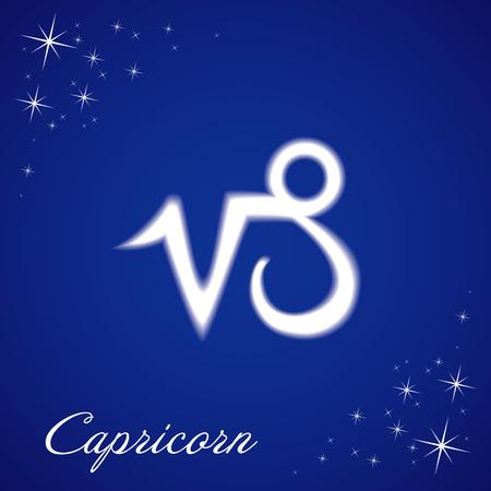 astrologer: Illustration of Capricorn sign Illustration