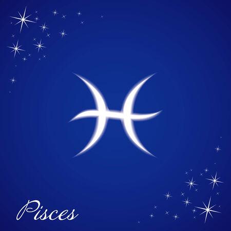 Illustration of Pisces sign Illustration