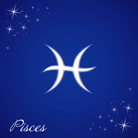 Illustration of Pisces sign Illusztráció