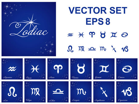Vector set of Zodiac symbols Vector