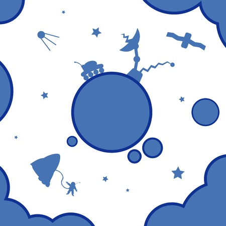 Vector illustration of abstract space view Vector