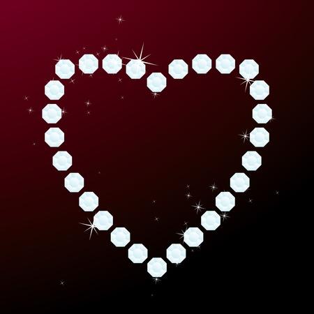 brilliant heart: Vector illustration of brilliant heart