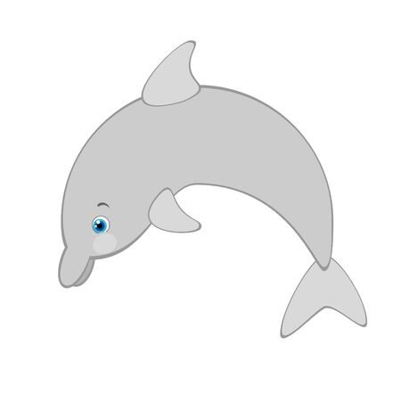 Vector illustration of cartoon dolphin Stock Vector - 9941220