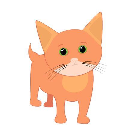 Isolated vector illustration of cute kitten Vector
