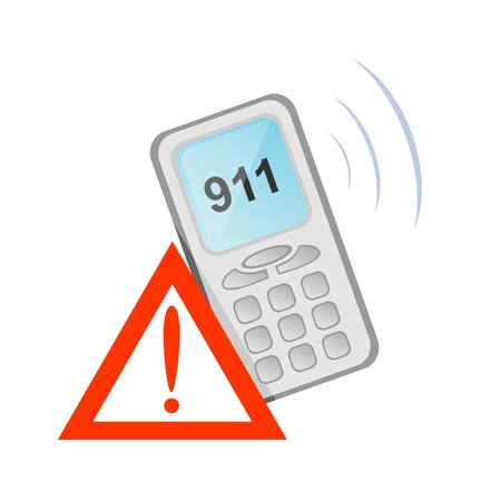 Vector icon of rescue telephone call