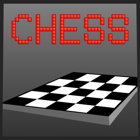 Vector illustration of chess online game banner Stock Vector - 9944557