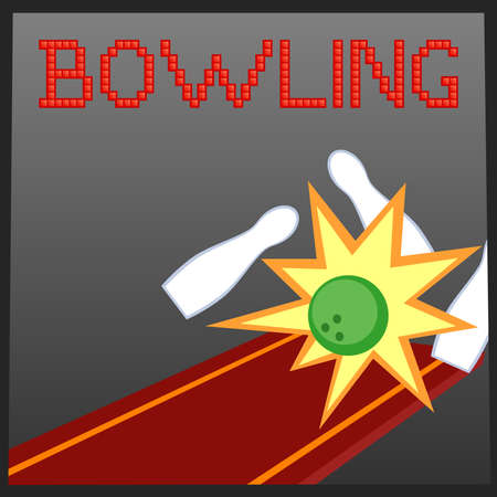 Vector illustration of bowling online game banner Stock Vector - 9944560