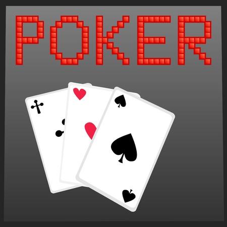 Vector illustration of poker online game banner Stock Vector - 9944558