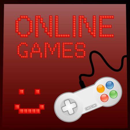 Vector illustration of online game banner Stock Vector - 9944580