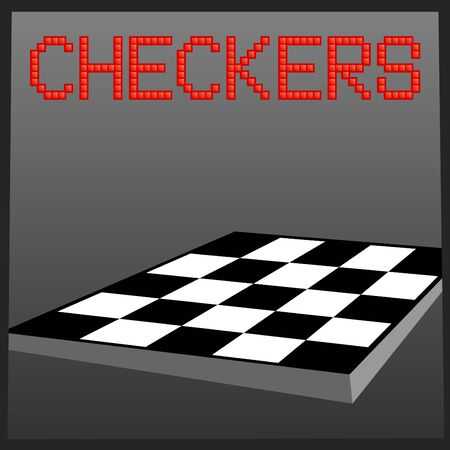 Vector illustration of checkers online game banner Stock Vector - 9944649