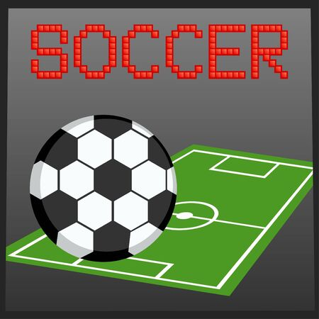 Vector illustration of soccer online game banner Stock Vector - 9944630
