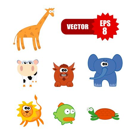 Vector set of googly eye animals Vector