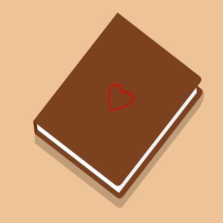 novel: Vector illustration of novel book