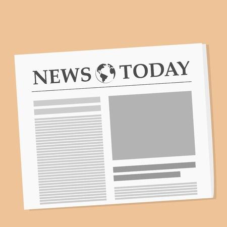 peri�dico: Ilustraci�n vectorial de diario sobre la mesa