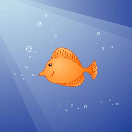 coral fish: illustration of coral fish with a lot of bubbles