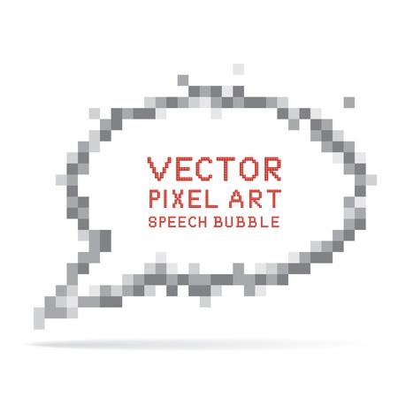 Vector illustration of pixel art speech bubble Stock Vector - 12910598