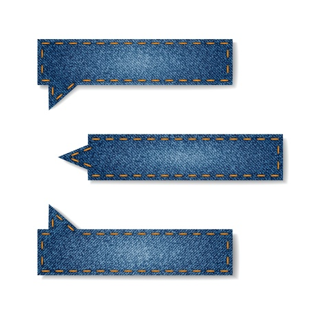 threadbare: set di tag di jeans per il tuo sito Vettoriali
